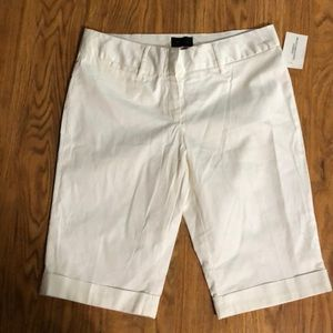 White Bermudas from The Limited